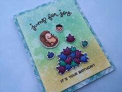 """Lawn Fawn """"Jump For Joy"""" Birthday Card (shopleanne) Tags: lawnfawn lawn fawn jumpforjoy stamp stampedcard card birthday greeting"""
