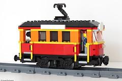 MOC two axle PF tram (Ivan Furlanis) Tags: lego tram tramway strassenbahn tramcar streetcar trolley