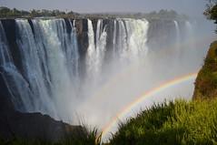Victoria Falls with a double rainbow, Zimbabwe (fame&obscurity) Tags: victoriafalls zimbabwe zambia africa mosioatunya rainbow rainbows doublerainbow tworainbows 2rainbows mist gorge