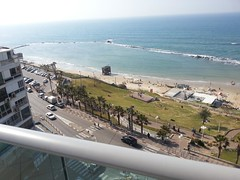 View from balcony, Bat Yam (dlisbona) Tags: sea vacation holiday vacances israel telaviv view apartment flat rental location appartement luxury seaview batyam louer apartement sejour