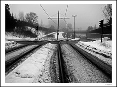 Blindern (frode skjold) Tags: winter snow oslo norway norge vinter tracks blindern sn trikkeskinner visitoslo blindernveien canonpowershots95 photoshopelements10