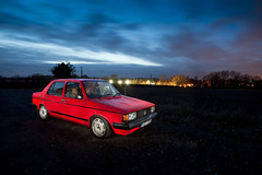 1983 Volkswagen Jetta (Sam Spilsbury) Tags: vw night canon golf volkswagen long exposure scene retro 5d jetta polo dub lowered 1740 vento slammed mkii stance scirocco veedub f4l