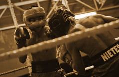 Boxing - sepia (Ian.Go) Tags: sports sepia canon fight fighter box philippines ring cebu boxer filipino ropes boxing dslr spar 70200 sparring lightweight wbo cebuano flyweight nietes