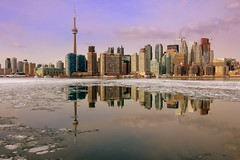 Winter Reflections !!! (Ming chai) Tags: toronto ontario cntower winterintoronto coloursofthiswinter