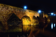 Devorgilla Bridge at night, Dumfries (iancowe) Tags: old bridge night river scotland scottish medieval floodlit dumfries nith devorgilla devorguilla