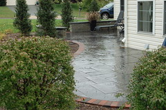After - Patio & Plantings (The Sharper Cut Landscapes) Tags: landscaping steps maryland patio laurel privacy paver smallspace plantings landscapedesign seatwall uppermarlboro hardscape ephenry entertainmentarea landscapecompany devonstone thesharpercut