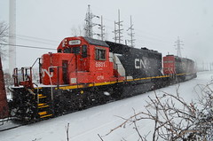 In the snow (Michael Berry Railfan) Tags: cn quebec montreal lachine gtw canadiannational emd sd402 gtw5933 w905 gtw5931