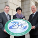 (r-l)Ian Humphreys who founded B.I. Electrical Services joins Enterprise Minister Arlene Foster and newly appointed non-executive Director, Jim Speirs to announce the creation of 26 new jobs by B.I. Electrical Services