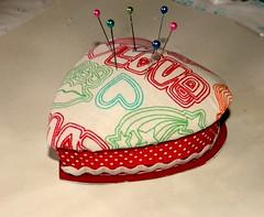 Pin cushion Heart 11 (shonniegrl71) Tags: heart sewing fabric valentines pincushion tutorial