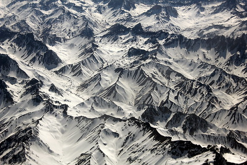 Aereo Andes avião Chile mountains snow aviao