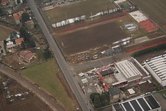 Lomazzo - Sporting center (_ Night Flier _) Tags: above travel sky italy panorama como nature airplane landscape flying high view earth top aviation aerial fromabove sporting brianza lombardia cessna skyview lombardy birdeye aeronautic lomazzo fnme
