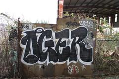 OGER (leftcoastletters) Tags: seattle street city streetart art underpass graffiti coast washington paint northwest tag letters spraypaint graff aerosol westcoast interbay kingcounty lcl leftcoast ephemeralart bestcoast leftcoastletters httplftcoastletterscom