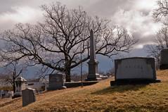 Laurel Hill (Bud in Wells, Maine) Tags: winter sky tree cemetery clouds reading massachusetts newengland gravestones laurelhillcemetery