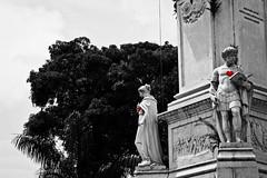 Stone Heart (Duda Arraes) Tags: city cidade brazil blackandwhite bw monument southamerica statue brasil amazon heart monumento nopeople pb latin tropical corao metropolis latina pretoebranco tropics par esttua belm amricadosul amaznia metrpole trpico sempessoas
