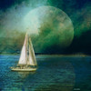 ~~~~ sailing away ~~~~ (xandram) Tags: moon sailboat photoshop manipulation nh textures mystical tatot magicunicornverybest galleryoffantasticshots