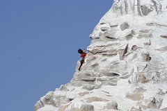 Mickey Mouse climbing the matterhorn at disneyland (davebloggs007) Tags: mouse disneyland mickey climbing matterhorn