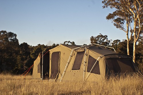 Jet Tent F25X and Oztent Tag-a-long joined together & Jet Tent F25X and Oztent Tag-a-long joined together - a photo on ...