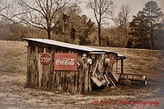 (Kboothphotobug) Tags: bw signs chattanooga sepia barn rural canon vintage landscape antique decay farm tennessee country rustic creative scenic stop cocacola dslr hdr 2013 kbphotobug