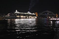 Radiance of the Seas (oxfordblues84) Tags: cruise night evening ship exterior au sydney australia nsw cruiseship newsouthwales sydneyharbour sydneyharbourbridge radianceoftheseas thecoathanger sydneyquay