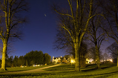 Lurgan Park at Night (cmcnally87) Tags: trees sky night stars lights flare lurganpark