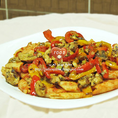 Penne Arrabiata with Delecious Chicken (Food Lover ) Tags: dinner recipe yummy yum dish delicious launch penne arrabiata