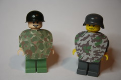 Poncho time! (zalbaar) Tags: world 2 usmc war lego cotton german american ww2 poncho customs zalbaar