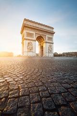 Arc de Triomphe @ sunrise (Beboy_photographies) Tags: paris sunrise de soleil place champs arc triomphe arcdetriomphe contrejour lyses arche pavs champslyses pav placedeltoile ltoile