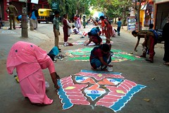 11 (akila venkat) Tags: street art colours patterns bangalore rangoli indianart