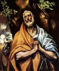 El Greco, Saint Pierre en pnitence, 1605, huile sur toile, 102x84cm, Hpital Tavera, Toledo, Espagne,  wga (RESSOURCES SAINT-PIERRE) Tags: art religion peinture espagne elgreco 17me saintpierre christianisme pnitence