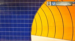 Orange and Blue (joemunich) Tags: architecture munich marienplatz ubahnstation