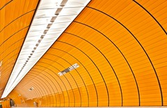 Orange tube (joemunich) Tags: architecture munich marienplatz ubahnstation
