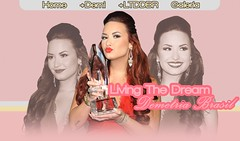 Living The Theam Demetria BR (MariWindsor) Tags: pink blue people yellow azul brasil sepia layout living shine bright stripes dream rosa amarelo mari windsor designs demi riscas choice awards marianna pca premio sbd lovato devonne demetria