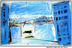 BAUSTELLE (CHRISTIAN DAMERIUS - KUNSTGALERIE HAMBURG) Tags: orange berlin rot silhouette modern strand deutschland see licht stillleben dock gesicht meer wasser foto fenster räume hamburg herbst felder wolken haus technik porträt menschen container gelb stadt grün blau ufer hafen fluss landungsbrücken wald nordsee bäume ostsee schatten spiegelung schwarz elbe horizont bilder schiffe ausstellung schleswigholstein figuren frühling landschaften wellen häuser kräne rapsfelder fläche acrylbilder hamburgermichel realistisch nordart acrylmalerei expressionistisch acrylgemälde auftragsmalerei auftragsbilder kunstausschreibungen kunstwettbewerbe galerienhamburg auftragsmalereihamburg hamburgerkünstler kunstgaleriehamburg galerieninhamburg acrylbilderhamburg virtuellegaleriehamburg acrylmalereihamburg
