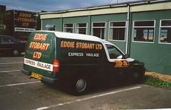 R253OHH V962 Eddie Stobart Ford Escort Van (graham19492000) Tags: photo scanned stobart eddiestobart greentrucks fordescortvan r253ohh v962