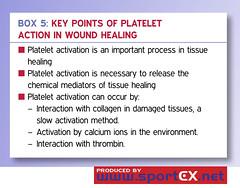 Key points of platelet action in wound healing (sportEX journals) Tags: injury medicine plasma rehabilitation platelet prp sportex