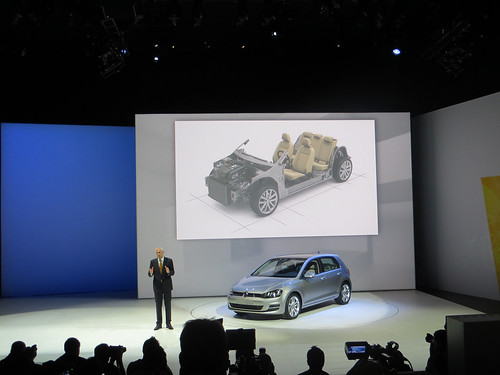 Volkswagen Golf 7 Reveal at 2013 New York Auto Show