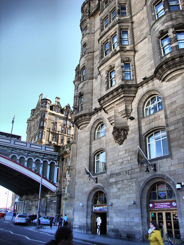 North Bridge from Market Street, Edinburgh