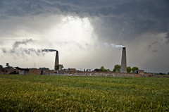 MAK_0427 (Aslam Khan - PK) Tags: storm lightening wheatfields bahawalpur khanewal chiminy