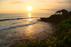 Sunset over the Indian Ocean (brianfarrell) Tags: ocean sea bali indonesia relax march surf peace lot wave serene relaxed tranquil tanahlot tanah 2013