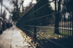 (angsthase.) Tags: abstract fence germany deutschland spring bokeh streetlife nrw dailylife zaun ruhrgebiet dortmund ruhrpott  mft 2013 micro43 olympuspenepl1 slrmagictoylens26mmf14 idortmund