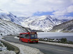 OK, I know it's only a Solo, but ... (Renown) Tags: lake snow mountains ice buses wales frozen spring solo april welsh snowdonia coaches gwynedd bws llyn ogwen optare snowdonsherpa padarnbus cm60cdh