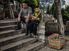Father & Son...  (Explored) (imvern) Tags: china cemetery festival 35mm f14 tomb sigma chinadigitaltimes sweeping guangxi liuzhou cdt qingming explored tombsweepingday 5d2 5dmkii