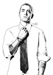 eminem 72px (AaronFacey) Tags: portrait white black detail celebrity art pen ink sketch artist drawing famous aaron fame draw marshal rapper shady biro ballpoint eminem hatching shading marshallmathers facey aaronfacey