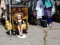 Chucky's Bride? (Rich Road) Tags: losangeles melroseave antiquemarket fairfaxhigh melrosetradingpost