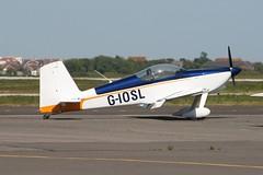 G-IOSL (IndiaEcho) Tags: light england canon airplane kent airport general aircraft aviation aeroplane vans airfield lydd rv9 lyx giosl egmd