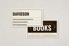 Vintage Bookstore Business Card (inkdphotos) Tags: brown retail vintage beige bookstore neutral decorativeelements