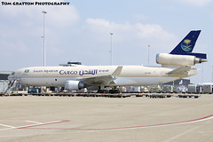 Saudi Arabian Cargo // MD-11F // HZ-AND // EHAM (Tom Gratton Photography) Tags: cargo saudi ams md11f