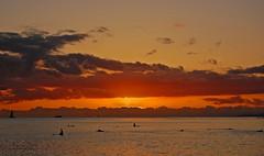 """No Twilight Within the Courts of the Sun"" (Explored 4/13/2013) (jcc55883) Tags: ocean sunset sky sun night clouds hawaii nikon cloudy waikiki oahu horizon pacificocean waikikibeach yabbadabbadoo d40 kuhiobeachpark nikond40"