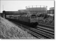 47563,  Horfield,  Sunday July 25th 1982. (Bristol RE) Tags: bristol brush sulzer horfield class47 type4 lockleaze 47563 1s87