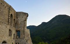 Castello Normanno-Svevo - Morano Calabro (fede_gen88) Tags: old houses italy moon mountains castle buildings evening nikon italia day clear walls fortress castello calabria morano normannosvevo moranocalabro d5100